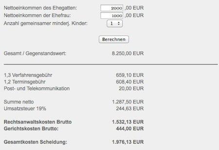 online scheidung kosten - Trennungsvereinbarung Muster Kostenlos